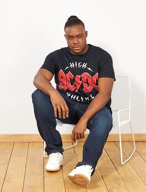 T-shirt regular imprimé 'AC/DC'                             noir