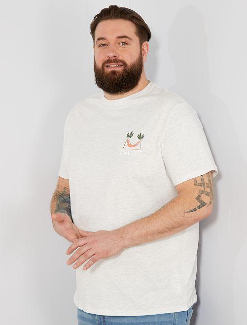 T-shirt regular imprimé Eco-conception                                                                                                                 gris clair chiné chill Grande taille homme