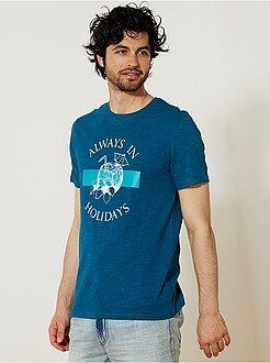 T-shirt regular imprimé fantaisie - Kiabi