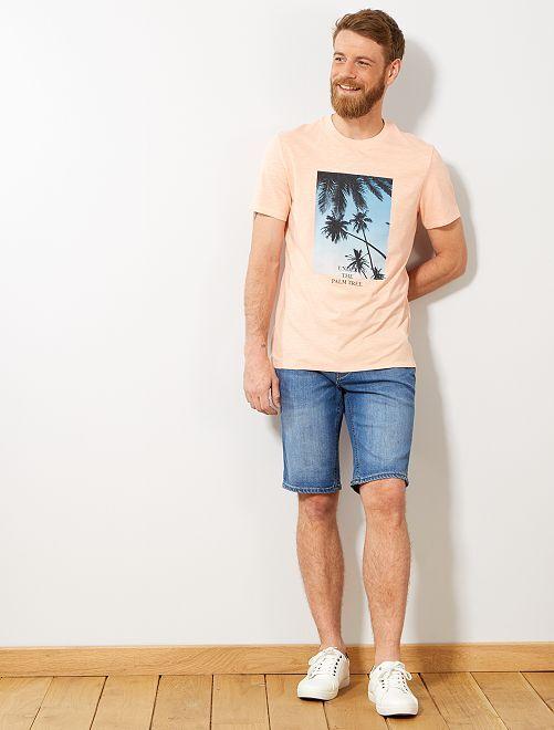 T-shirt regular photoprint                                                                             saumon pâle Homme
