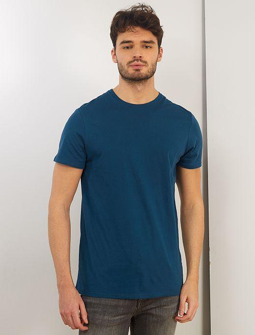 T-shirt regular pur coton +1m90                                                                                         bleu canard