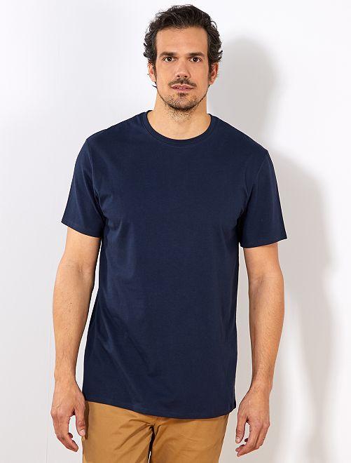 T-shirt regular pur coton +1m90                                                                                         bleu marine