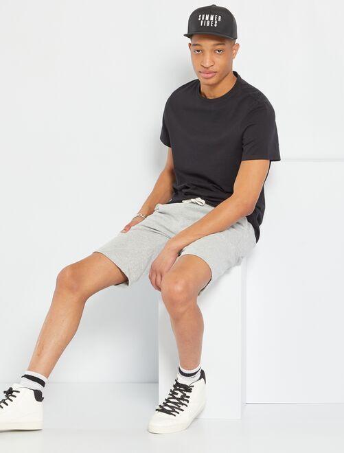 T-shirt regular pur coton +1m90                                                                                         noir