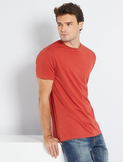 T-shirt regular pur coton +1m90                                                                                                     rouge