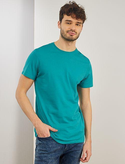 T-shirt regular pur coton +1m90                                                                                         vert