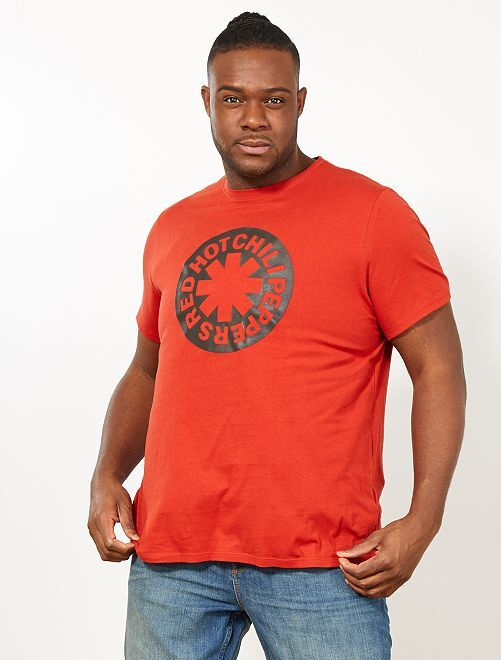 T-shirt regular 'Red Hot Chili Peppers'                             orange ketchup Grande taille homme