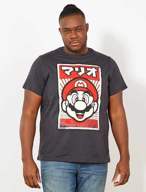 T-shirt regular 'Super Mario'                             anthracite Grande taille homme