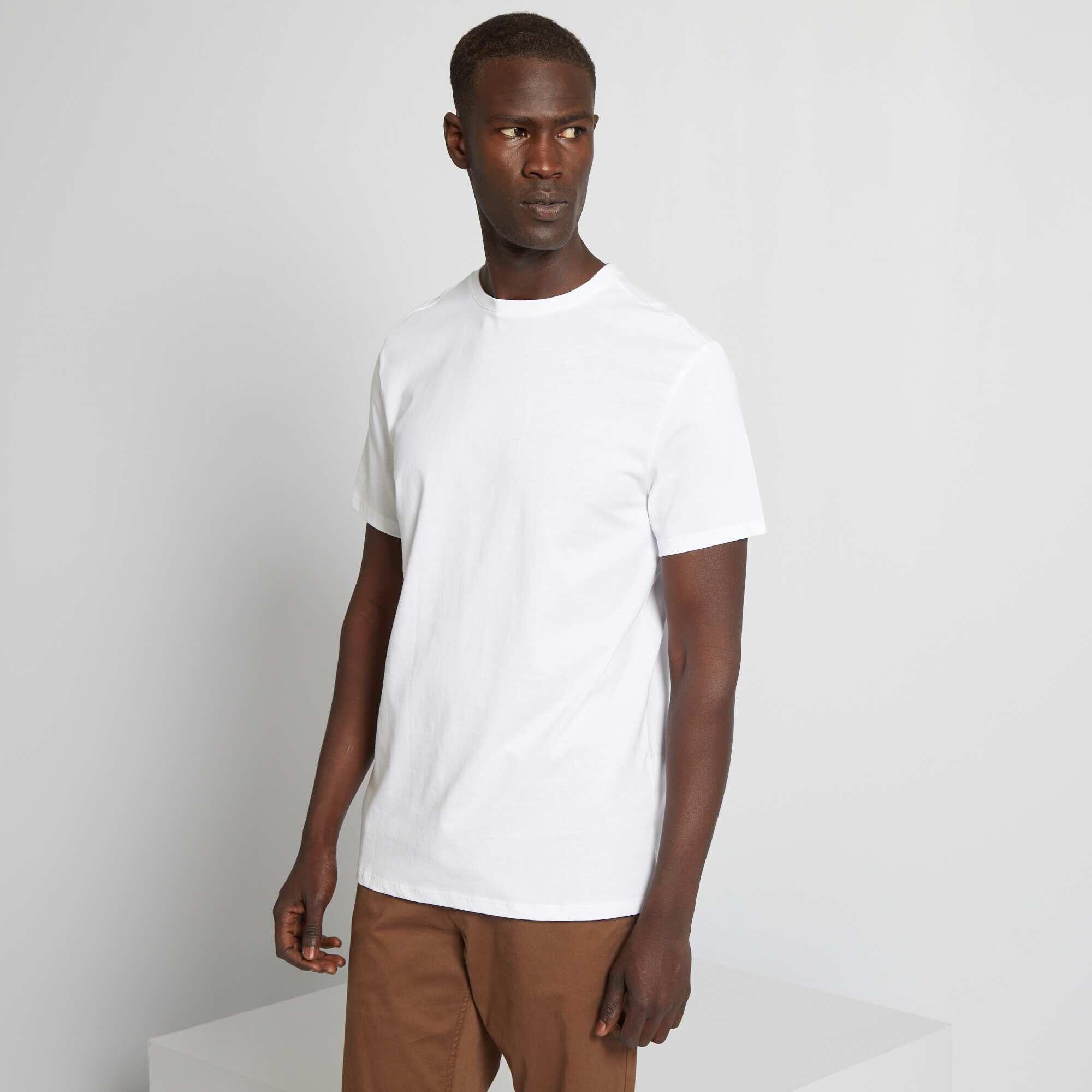 Couleur : blanc, noir, bleu marine,bleu indigo,vert canard - Taille : XL, M, L,XXL,SUn classique à un prix si petit qu'il donne envie de les collectionner ! - Tee-shirt