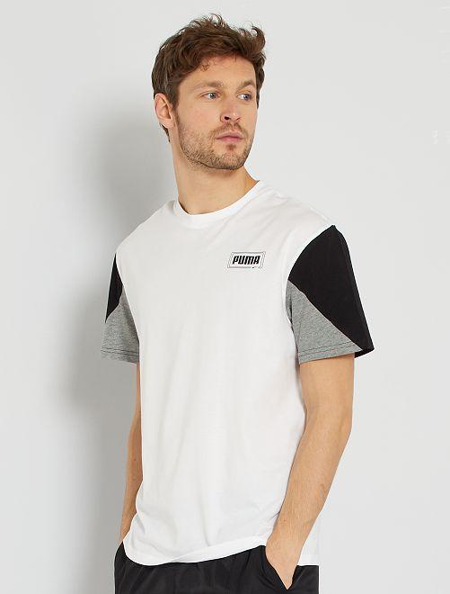 T-shirt relaxed 'Puma'                             blanc