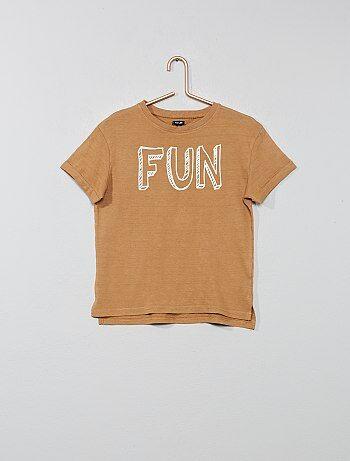 cd7470833034b Garçon 3-12 ans - T-shirt relief à imprimé - Kiabi