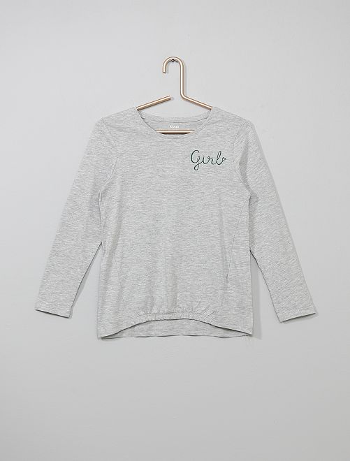 T-shirt resserré devant                                                                                                                                                                 gris girls Fille