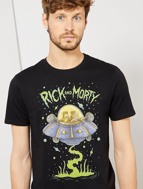 T-shirt 'Rick et Morty'                             noir