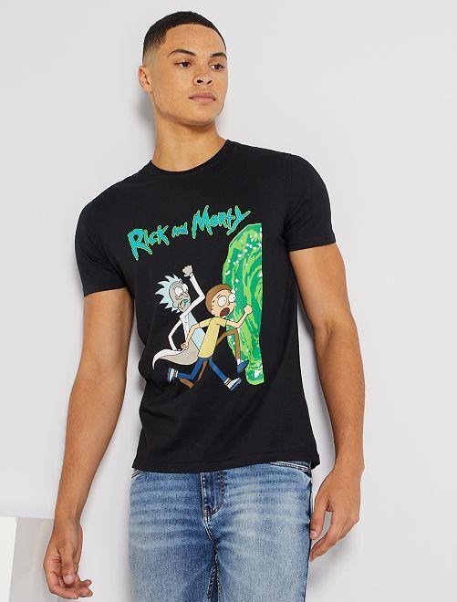 T-shirt 'Rick et Morty'                             noir