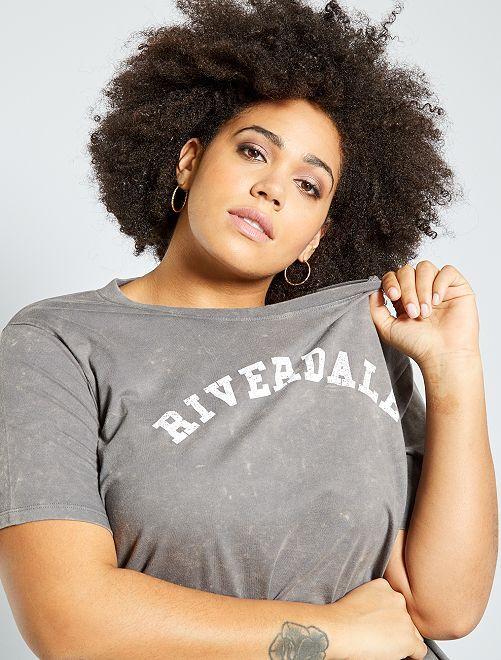 T-shirt 'Riverdale'                                         gris