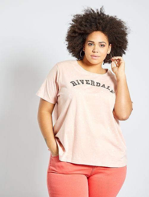 T-shirt 'Riverdale'                                         rose