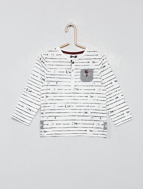 T-shirt 'rock'                                         blanc