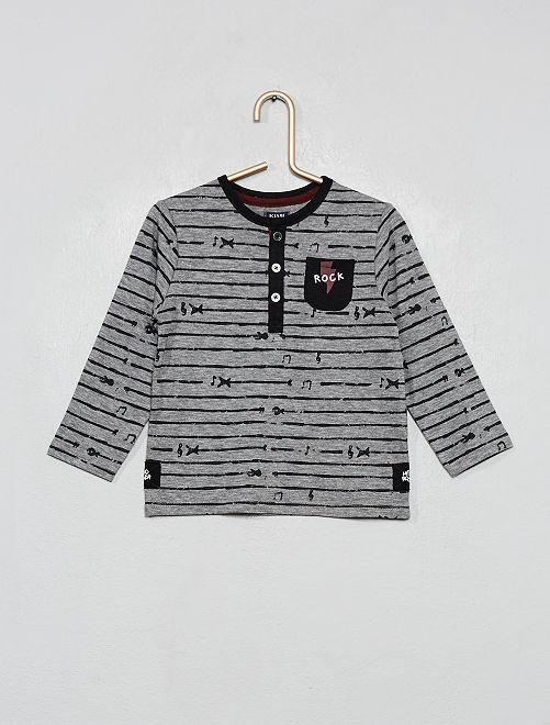 T-shirt 'rock'                                         gris