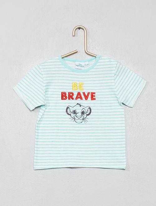 T-shirt 'Roi Lion'                             bleu rayé