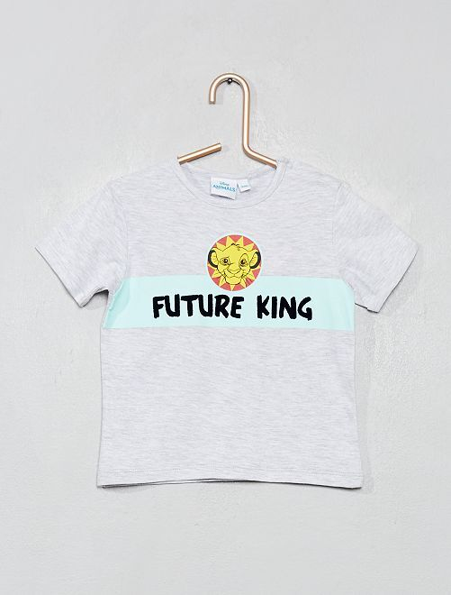 T-shirt 'Roi Lion'                             gris chiné