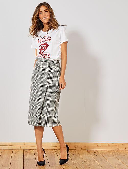 T-shirt 'Rolling Stones'                             blanc