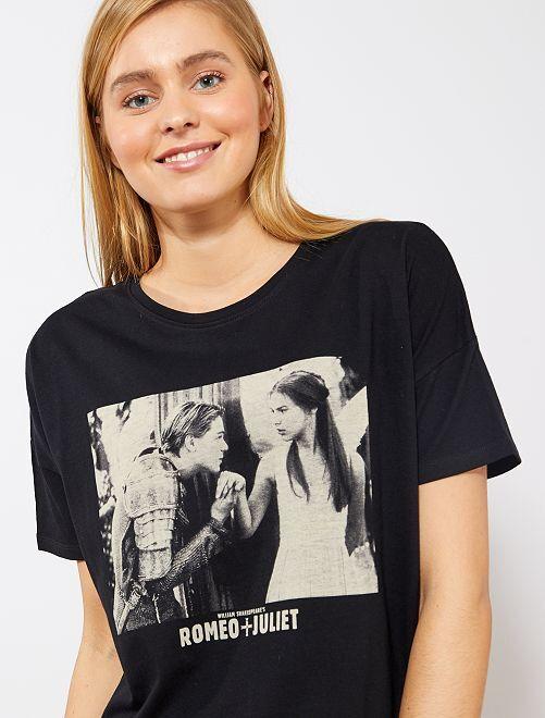 T-shirt 'Romeo + Juliet'                             noir