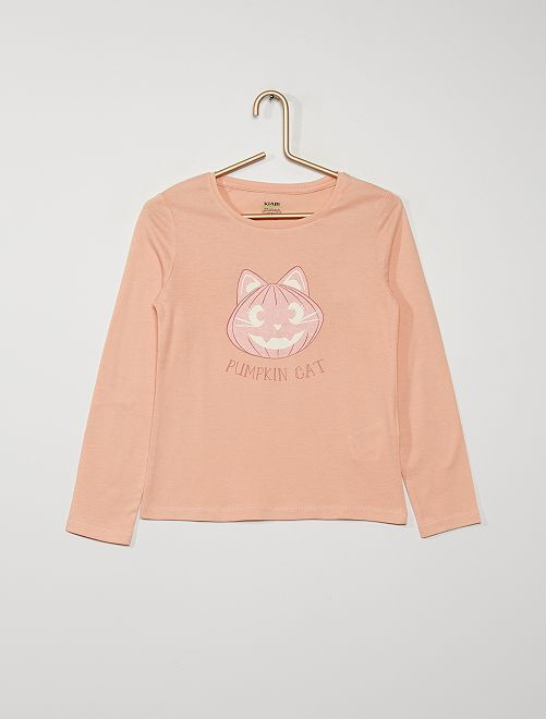 T-shirt                                                                                                                                                                                                     rose 'chat'