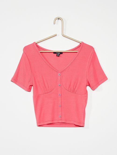 T-shirt                                         rose vif