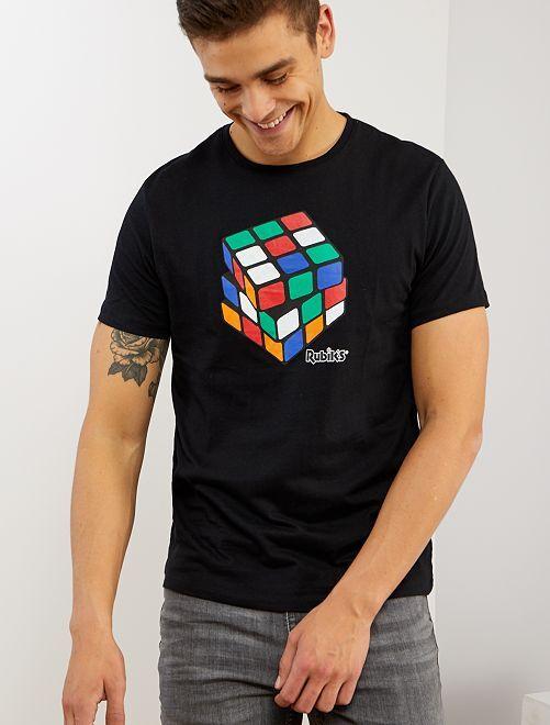 T-shirt 'Rubik's'                             noir