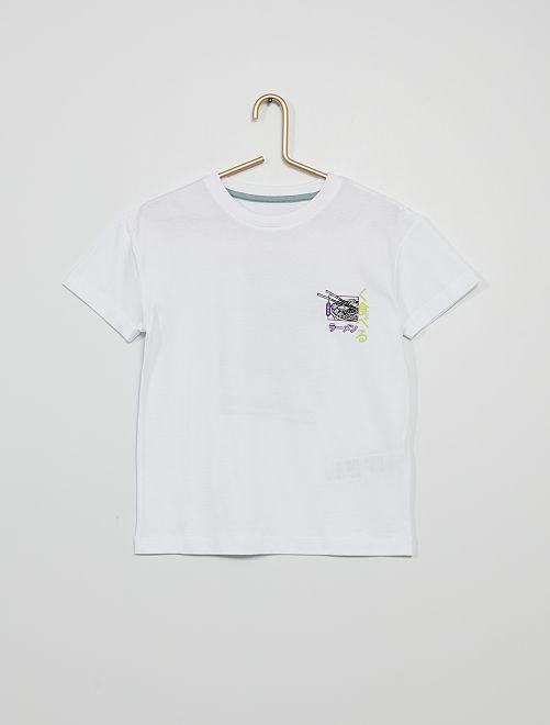 T-shirt 'Samouraï'                                                                 blanc