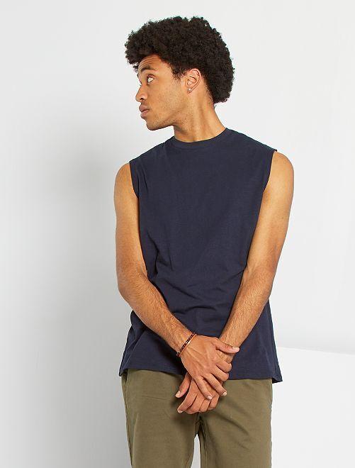 T-shirt sans manches                                                     bleu marine