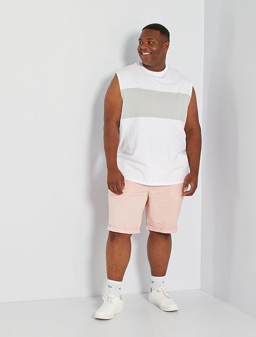 T-shirt sans manches color block                                                     blanc/gris vert