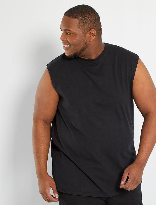 T-shirt sans manches éco-conçu                                         noir