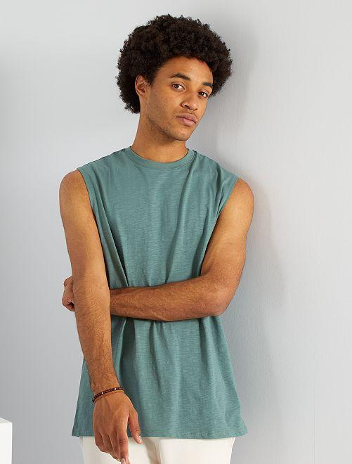 T-shirt sans manches                                                     vert