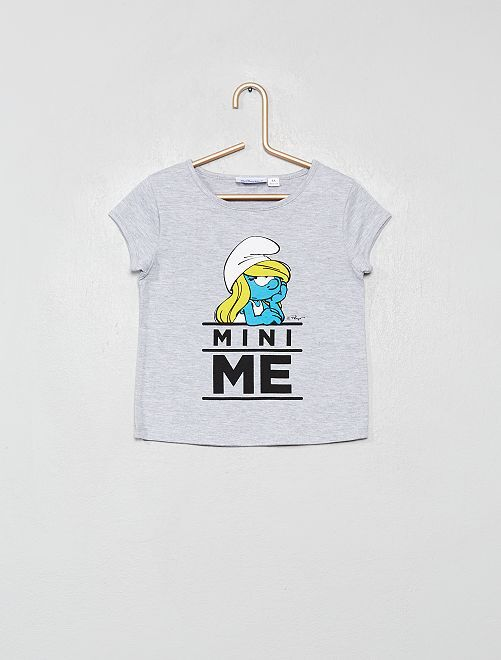 T-shirt 'Schtroumpfette                             gris chiné