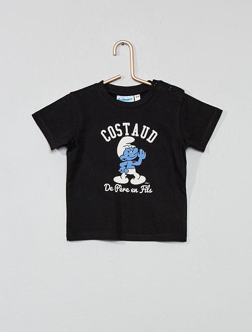 T-shirt 'Schtroumpfs Costaud'                             noir Bébé garçon