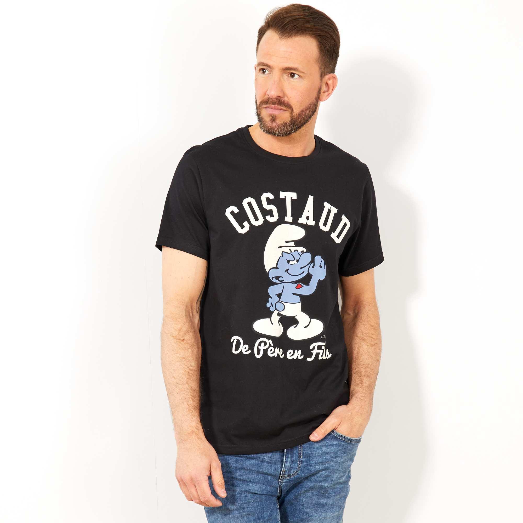'schtroumpfs T T Shirt 'schtroumpfs Shirt Costaud' Costaud' YgvfI7b6ym