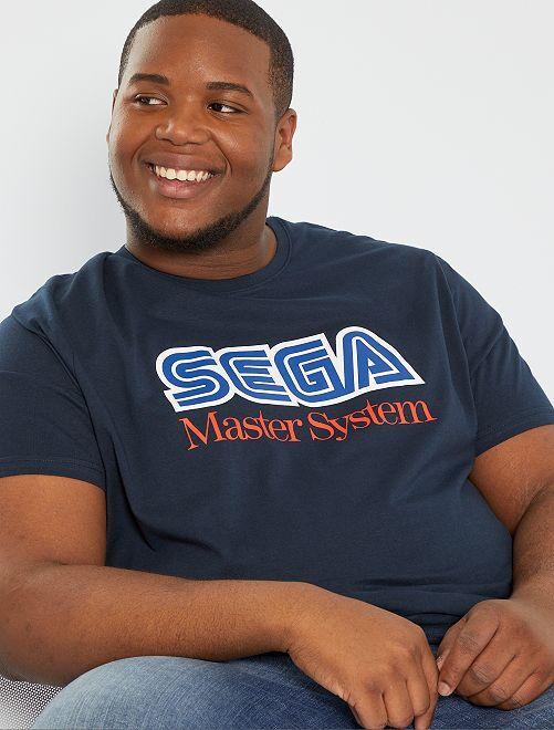T-shirt 'Sega Master System'                             bleu marine
