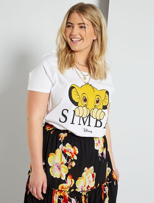 T-shirt 'Simba'                             blanc