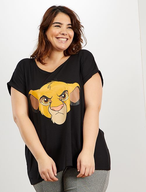 T-shirt 'Simba' de 'Disney'                                                                                                                                                                             noir