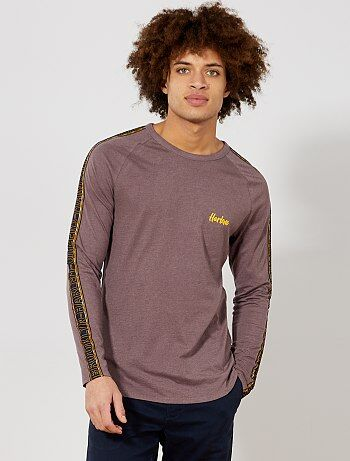 T shirt slim bandes latérales