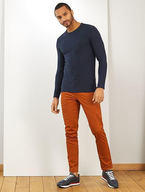 T-shirt slim 'éco-conception'                             bleu marine