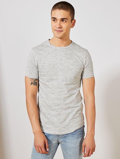 T-shirt slim 'éco-conception'                                                                             gris chiné