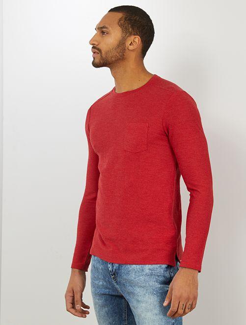 T-shirt slim 'éco-conception'                                         rouge