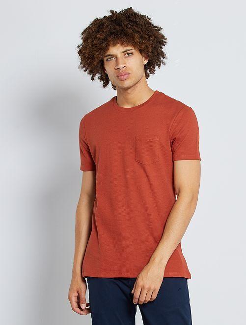 T-shirt slim éco-conçu                                                                 orange foncé