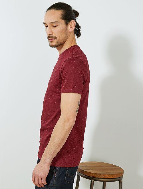 t shirt slim mouchet eco conception homme bordeaux kiabi 6 00. Black Bedroom Furniture Sets. Home Design Ideas