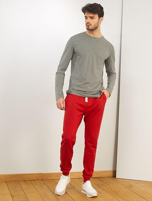 T-shirt slim pur coton +1m90                                         gris chiné