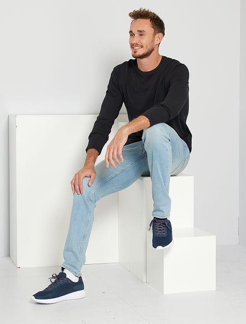 T-shirt slim pur coton +1m90                                                     noir Homme de plus d'1m90
