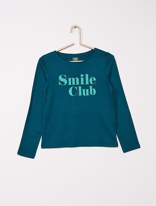 T-shirt 'smile' éco-conçu                                         vert