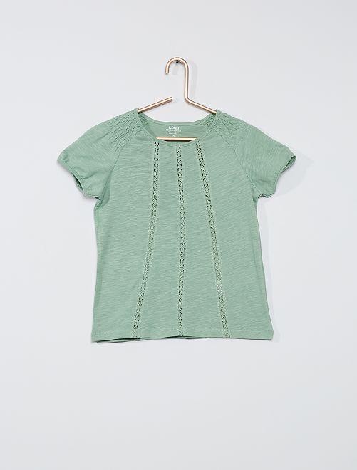 T-shirt smocké éco-conçu                                                                                                                                                                 vert