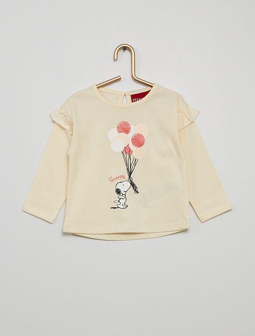 T-shirt 'Snoopy'                                         blanc